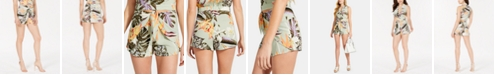 GUESS Juni Printed Tie-Front Shorts