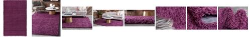 Bridgeport Home Exact Shag Exs1 Eggplant Purple 5' x 8' Area Rug