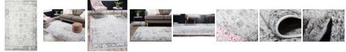 Bridgeport Home Basha Bas1 Gray 5' x 8' Area Rug