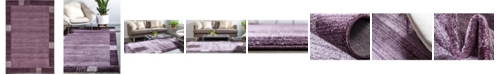 Bridgeport Home Lyon Lyo1 Purple 6' x 9' Area Rug