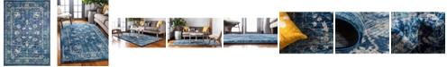 "Bridgeport Home Masha Mas3 Navy Blue 8' x 11' 4"" Area Rug"