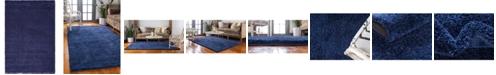 "Bridgeport Home Uno Uno1 Navy Blue 5' x 7' 7"" Area Rug"