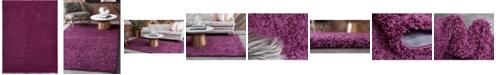 Bridgeport Home Exact Shag Exs1 Eggplant Purple 9' x 12' Area Rug