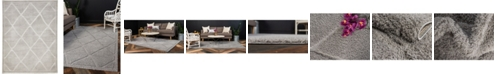 Bridgeport Home Filigree Shag Fil1 Gray 9' x 12' Area Rug