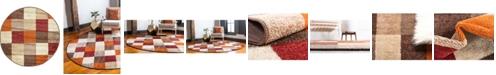 "Bridgeport Home Jasia Jas01 Multi 3' 3"" x 3' 3"" Round Area Rug"