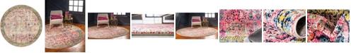 Bridgeport Home Newhedge Nhg6 Pink 8' x 8' Round Area Rug