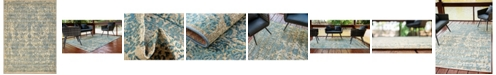 "Bridgeport Home Pashio Pas6 Blue 8' x 11' 4"" Area Rug"