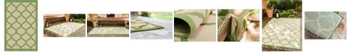 "Bridgeport Home Pashio Pas5 Green 2' 2"" x 3' Area Rug"