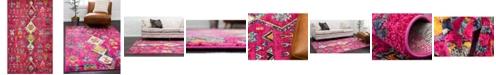 "Bridgeport Home CLOSEOUT! Arcata Arc1 Pink 10' 6"" x 16' 5"" Area Rug"