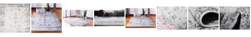 Bridgeport Home Basha Bas1 Gray 8' x 8' Square Area Rug