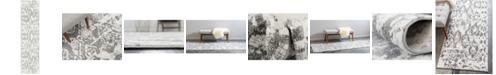 "Bridgeport Home Mishti Mis5 Light Gray 2' 7"" x 10' Runner Area Rug"