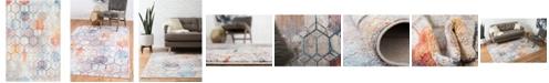 "Bridgeport Home Prizem Shag Prz1 White 5' 3"" x 7' 9"" Area Rug"