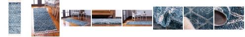 "Bridgeport Home Levia Lev2 Dark Blue 2' 4"" x 6' Runner Area Rug"