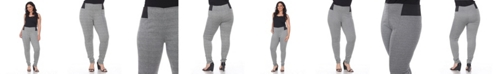 White Mark Plus Size Jacquard Slim Pants