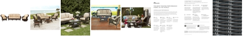 Furniture Monterey Outdoor Wicker 3-Pc. Seating Set with Sunbrella® Cushions  (1 Sofa, 1 Club Chair, 1 Swivel Glider), Created for Macy's