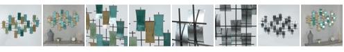 Luxen Home Metal Abstract Geometric Wall Decor