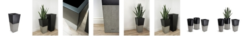 "Le Present Lux Betona Fiberglass Planter Tapered 28"""