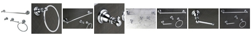 Kingston Brass American Classic 4-Pc. Bathroom Accessory Set in Polished Chrome