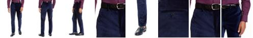 Tallia Orange Men's Slim-Fit Blue Velvet Suit Pants