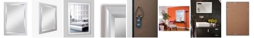 """Reveal Frame & Decor Alpine Lakeside White 28"""" x 40""""  Beveled Wall Mirror"""