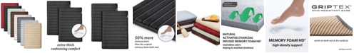 "Microdry Charcoal-Infused 17"" x 24"" 2-Pack Memory Foam Bath Mat Set"