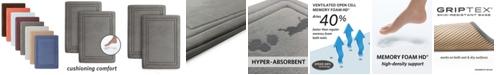 "Microdry SpeedDry® 17"" x 24"" 2-Pack Memory Foam Bath Mat Set"