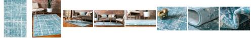 Jill Zarin Lexington Avenue Uptown Jzu003 Turquoise 5' x 8' Area Rug