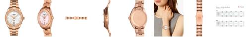 Tissot Women's Swiss PR 100 Sport Chic T-Classic Diamond (1/20 ct. t.w.) Rose Gold-Tone Stainless Steel Bracelet Watch 36mm