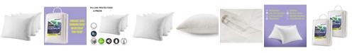 Waterguard Pillow Protectors, King - Set of 4 Pieces