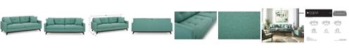 "Furniture Nari 83"" Fabric Tufted Sofa, Created for Macy's"