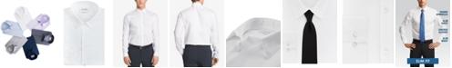 Calvin Klein Men's Slim Fit Non Iron Performance Herringbone Point Collar Dress Shirt