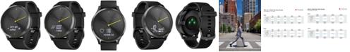 Garmin vívomove™ HR Black Silicone Strap Hybrid Smart Watch 43mm