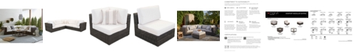 Furniture Viewport Outdoor 5-Pc. Modular Seating Set (3 Corner Units and 2 Armless Units) with Sunbrella® Cushions, Created for Macy's