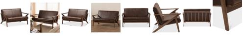 Furniture Wynona Faux Leather Loveseat