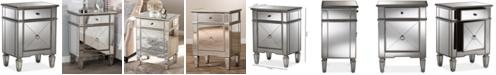 Furniture Claudia Mirrored Nightstand