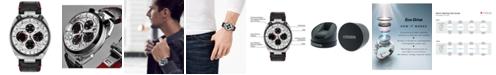 Citizen Eco-Drive Men's Chronograph Promaster Tsuno Racer Black Leather Strap Watch 45mm