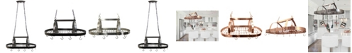 All The Rages Elegant Designs 2 Light Kitchen Pot Rack with Downlights