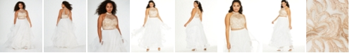 Say Yes to the Prom  Trendy Plus Size Embroidered 2-Pc. Gown, Created for Macy's