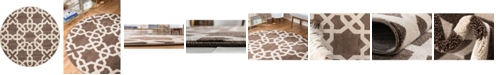 Bridgeport Home Arbor Arb5 Light Brown 6' x 6' Round Area Rug