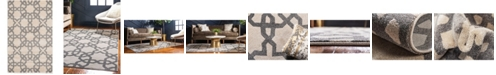 """Bridgeport Home Arbor Arb5 Beige/Gray 3' 3"""" x 5' 3"""" Area Rug"""