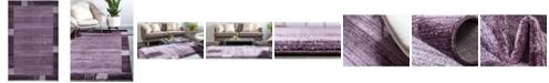 "Bridgeport Home Lyon Lyo1 Purple 3' 3"" x 5' 3"" Area Rug"