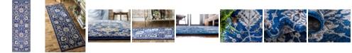 """Bridgeport Home Wisdom Wis1 Blue 2' 2"""" x 6' Runner Area Rug"""