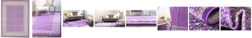 Bridgeport Home Axbridge Axb1 Violet 9' x 12' Area Rug