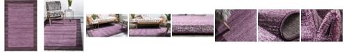 Bridgeport Home Lyon Lyo4 Violet 5' x 8' Area Rug