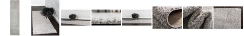 "Bridgeport Home Salon Solid Shag Sss1 Light Gray 2' 7"" x 10' Runner Area Rug"