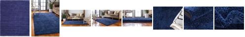 Bridgeport Home Uno Uno1 Navy Blue 8' x 10' Area Rug