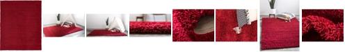 Bridgeport Home Exact Shag Exs1 Cherry Red 8' x 10' Area Rug