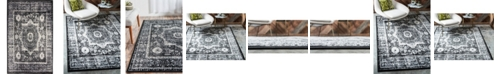 Bridgeport Home Linport Lin7 Black 5' x 8' Area Rug