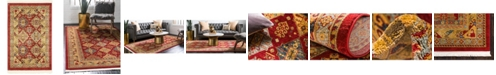 """Bayshore Home Bridgeport Home Harik Har2 Red 2' 2"""" x 3' Area Rug"""