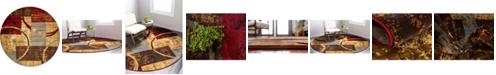 Bridgeport Home Kallista Kal9 Multi 8' x 8' Round Area Rug